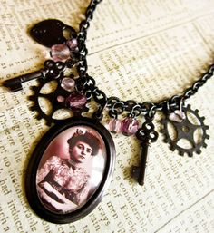 Steampunk Lady Necklace  Victorian Tattoo Circus by DubiousDesign, £20.00