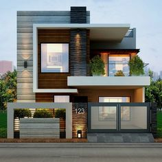 Modern House Exterior Inspirations about Home Decorations, Garden, Interior Design, Architecture, etc.By Posted on April House Exterio Modern Exterior House Designs, Modern Tiny House, Dream House Exterior, Modern House Plans, Exterior Design, Exterior Colors, Modern Design, Exterior Paint, Facade Design