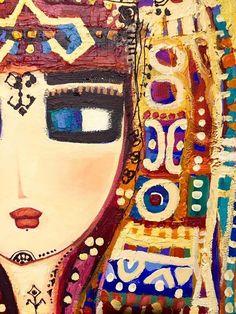 Colorful art by Canan Berber by Turkish Painter Turkish Art, Arabic Art, Poster Prints, Art Prints, Mexican Folk Art, Felt Art, Whimsical Art, Embroidery Art, Artist Painting
