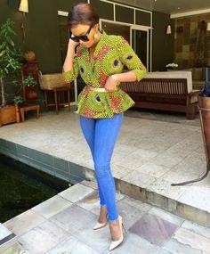 Peplum blazer ~African fashion, Ankara, kitenge, African women dresses, African prints, African men's fashion, Nigerian style, Ghanaian fashion ~DKK