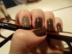 Nail art. Chocolate brown
