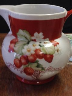 Strawberry Pitcher | ARTchat - Porcelain Art Plus (formerly Chatty Teachers & Artists)