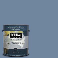 BEHR Premium Plus Ultra 1-gal. #S520-5 Thundercloud Satin Enamel Interior Paint-775401 - The Home Depot