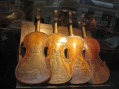 Carved Violins by Pete Woodhead, via Flickr
