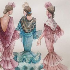 Art Model, Watercolor Art, Card Making, Embroidery, Drawings, Artwork, Andalucia, Cards, Painting