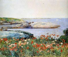 Childe Hassam (American 1859–1935) [American Impressionism, The Ten] Poppies, Isles of Shoals, 1891.