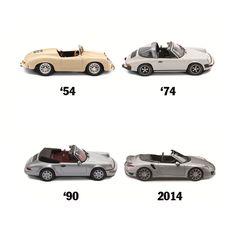 Cuatro años, grandes campeones. Una imagen que retrata el orgullo alemán. Porsche Classic, Porsche 911, Cars Motorcycles, Super Cars, Evolution, Automobile, History, Sports, Collection