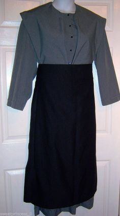 "Amish Dress Matching Cape and Apron 44""B/40""W Authentic Pa. Dutch Amish Clothing #Handmade #Casual  #http://store.ebay.com/AMISH-MENNONITE-DRESS"