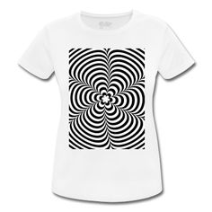 T-Shirt Optical illusion (Impossible) Black & White OP-Art #cloth #cute #kids# #funny #hipster #nerd #geek #awesome #gift #shop