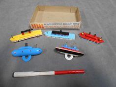 Vintage Creative Playthings Magnetic Wood Wooden Boat Set | eBay