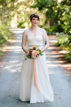 Bride Portrait Before Wedding Ceremony At Fireseed Catering On Whidbey Island
