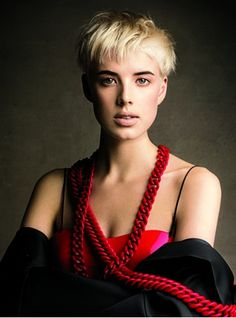 The Best Brows for Your Hair Color: From Bleached to Black - Photographed by Patrick Demarchelier, Vogue, February 2008 Hair, Hair Color, Blonde Hair, Dark Eyebrows, Agyness Deyn, Brows, Blonde Hair Dark Eyebrows, Short Hair Styles, Cool Eyes