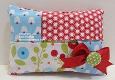 Summer Smooches Fabric Kleenex Tissue Holder - FREE tutorial on www.barbstamps.com