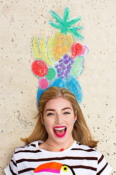 Fruit hat out of chalk | photos by Nicole Mlakar for Camille Styles