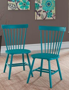 Shop today for Sauder 2-Pair Cottage Road Blue Spindle Back Chair Set & deals on Chairs! Official site for Stage, Peebles, Goodys, Palais Royal & Bealls.