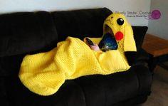 Cuddle-Up Pikachu Amigurumi Snuggle Blanket CROCHET PATTERN