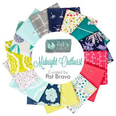 Midnight Outburst Fat Quarter Bundle<BR>Curated by Pat Bravo for Art Gallery Fabrics