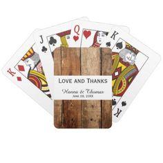 #Dark Rustic Barn Wood Wedding Playing Cards - #rustic #wedding #marriage #bridal #weddingideas