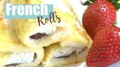 ROLLITOS DE NUTELLA Y FRESAS I Nutella French toast |Receta French rolls...