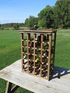 #DiyWoodworkingSimple Wine Collection, Dust Collection, Reclaimed Barn Wood, Rustic Wood, Fine Woodworking, Woodworking Projects Plans, Jewelry Box Plans, Rustic Wine Racks, Nail Holes