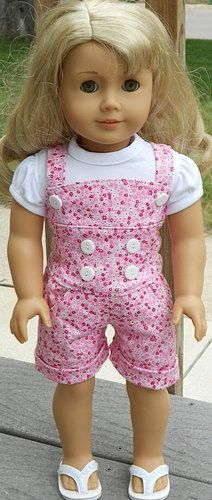 Pink Floral Romper Outfit For American Girl by AngelKissesBoutique, $24.99