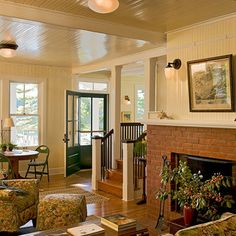 Beadboard Ceiling Design, Pictures, Remodel, Decor and Ideas - page 15