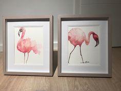 https://m.facebook.com/KunststattKitsch/ Flamingo rosa Vögel Aquarell modern