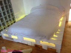 Camas feitas de pallets com iluminação(6)                                                                                                                                                                                 Mais