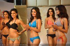 fbb Femina Miss India 2015 finalists posing for Cinnamon Miss Body Beautiful.