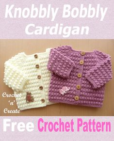 Free baby crochet pattern for sweater, this easy diy design has been created with a bobbly stitch pattern, a quick to crochet cardigan that will make a lovely baby shower gift. CLICK to get the pattern. | #crochetbabysweater #freebabycrochetpattern #crochetncreate #crochet #howto #crochetpattern #freecrochetpattern #easypattern #freepattern #forbeginners #diy #crafts