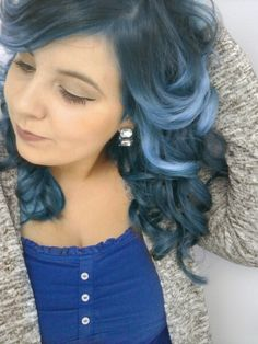 blue hair is cool!