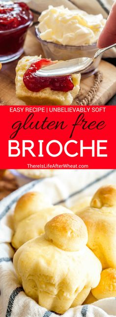 These Gluten Free Brioche Rolls are a recreation of a traditional French sweet b. Best Gluten Free Recipes, Gluten Free Cooking, Gluten Free Desserts, Celiac Recipes, Brioche Sans Gluten, Gluten Free Brioche Recipe, Sweet Bread Meat, Pains Sans Gluten, Sicilian Recipes