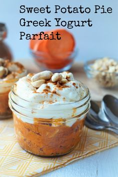 Sweet Potato Pie Greek yogurt parfait- shaws simple swaps