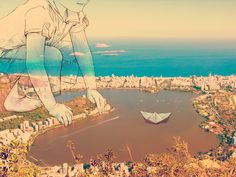 Seria você o vento?  Ou um barquinho de papel? Esperando um impulso novo Um abraço apertado Uma segunda-feira alheia Uma brincadeira  Pra então você navegar Sair zarpando desse cercado Dessa cidade invisível  De concreto armado E recitar no meu ouvido Uma prece, uma cantiga Uma promessa tão linda Que te desdobre no tempo Te transforme no meu vento Pra então você me levar E me bastar Me ganhar E me flutuar