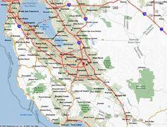 nice Map Of San Jose California