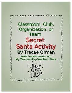 """FREE LESSON - """"Classroom or Team Secret Santa"""" - Go to The Best of Teacher Entrepreneurs for this and hundreds of free lessons.  #FreeLesson   #TeachersPayTeachers   #TPT   #Christmas  http://www.thebestofteacherentrepreneurs.net/2013/12/free-misc-lesson-classroom-or-team.html"""