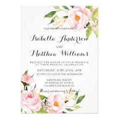 #floral - #Peony Floral Wedding Invitation-2 Card