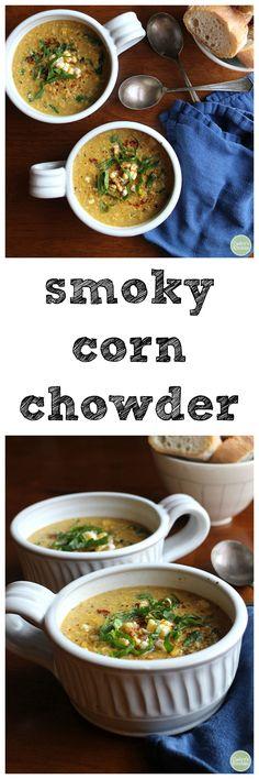 Smoky corn chowder -