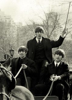 Ringo, Paul and John in Central Park, 1964
