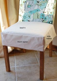 Chair Seat Covers on Ana White Build A Drop Cloth Parson Chair Slipcovers Free And Easy Dining Room Chair Slipcovers, Dining Chair Seat Covers, Dining Chairs, Kitchen Chair Covers, Wooden Chairs, Chair Cushions, Room Chairs, Ikea Chairs, Eames Chairs
