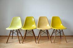 Eames _ HERMAN MILLER _ VITRA, 4x chairs , Stuhle aus Panton 60er Ära #21 | eBay
