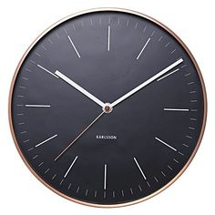 For flawless, modern style to adorn your space opt for the luxurious looks of the minimalist Watch Wall Clock, Black from Karlsson.