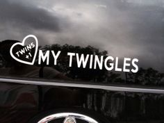 Twins  1 Car Decal. Love My Twingles. Super special by PropMama, $5.00