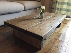 December 2016 3 New Forest Rustic Furniture Solid Rustic Handmade Pine Coffee  Table Finished In A Chunky Country Oak Dark Oak X X