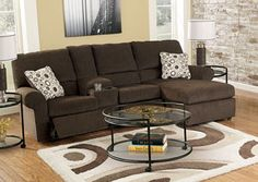 Cybertrack Chocolate Chaise Reclining Sectional, /category/living-room/cybertrack-chocolate-chaise-sectional.html