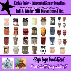Fall & Winter 2011 Discontinued List....get your favorites before they're gone!