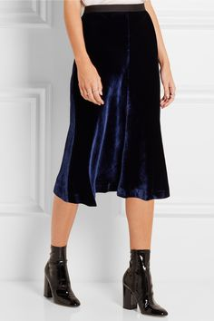 T by Alexander Wang velvet skirt & Valentino boots More