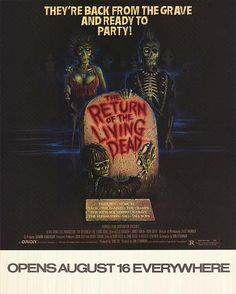 Second best zombie film of all time.send more paramedics. 80s Movie Posters, 80s Movies, Original Movie Posters, Movies To Watch, Movie Tv, Best Zombie, The Cramps, The Best Films, Vintage Movies