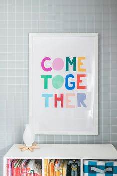 24 x 36 inches This bright + cheerful print feels like the perfect addition to any home to bring hope + positivity. Designed by the amazing Ampersand Design St Therapist Office, Gender Party, Come Together, Wall Decor, Wall Art, Kids Prints, Graphic Design Illustration, Playroom, Diy Home Decor