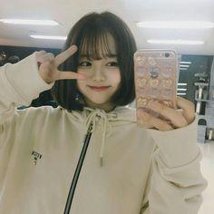 Uzzlang Girl, Girl Face, Korean Aesthetic, Aesthetic Girl, Cute Korean Girl, Asian Girl, Sweet Girls, Cute Girls, Ulzzang Short Hair